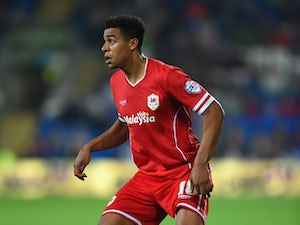 Cardiff player Tom Adeyemi in action during the Sky Bet Championship match between Cardiff City and Middlesbrough at Cardiff City Stadium on September 16, 2014
