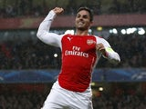 Arsenal's Spanish midfielder Mikel Arteta celebrates scoring a penalty during the UEFA Champions League Group D football match between Arsenal and Anderlecht at the Emirates Stadium in north London on November 4, 2014