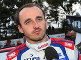 Robert Kubica of Poland talks to the media during Day Two of the WRC Australia on September 13, 2014
