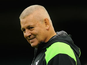 Wales coach Warren Gatland raises a smile during Wales training at the Millennium stadium on November 3, 2014