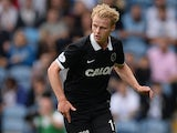 Gary Mackay-Steven of Dundee United during a pre-season friendly match between Leeds United and Dundee United at Elland Road on August 2, 2014