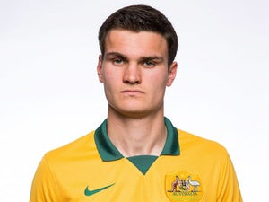 Curtis Good in a Socceroos headshot in May 2014