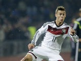 Joshua Kimmich of Germany in action during the UEFA U21 Championship First Leg Playoff between Ukraine and Germany at the KP Tcentralnyi Stadium on October 10, 2014