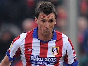Mario Mandzukic for Atletico Madrid on February 7, 2015