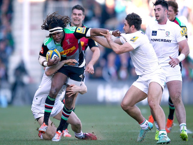 Result: Quins hold on to beat Irish