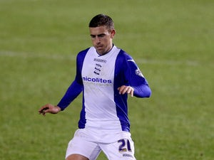 Olly Lee of Birmingham during the FA Cup Third Round match between Birmingham City and Bristol Rovers at St Andrews (stadium) on January 14, 2014