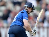 England captain Eoin Morgan bats during the 1st ODI Royal London One-Day match between England and New Zealand at Edgbaston on June 9, 2015