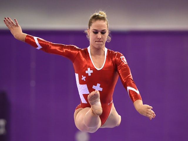Giulia Steingruber of Switzerland completes during the Women's Beam final on day eight of the Baku 2015 European Games at the National Gymnastics Arena on June 20, 2015