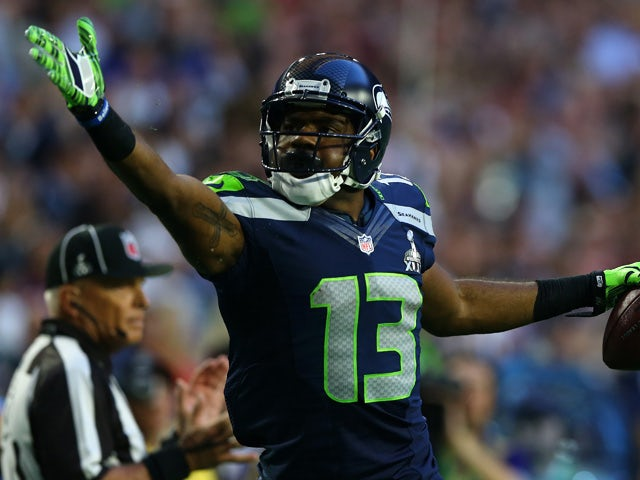 Chris Matthews #13 of the Seattle Seahawks reacts against the New England Patriots during Super Bowl XLIX at University of Phoenix Stadium on February 1, 2015