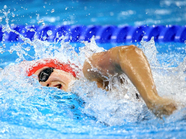 Darcy Deakin of Great Britain competes during the Women's 100m Freestyle final on day twelve of the Baku 2015 European Games at the Baku Aquatics Centre on June 24, 2015