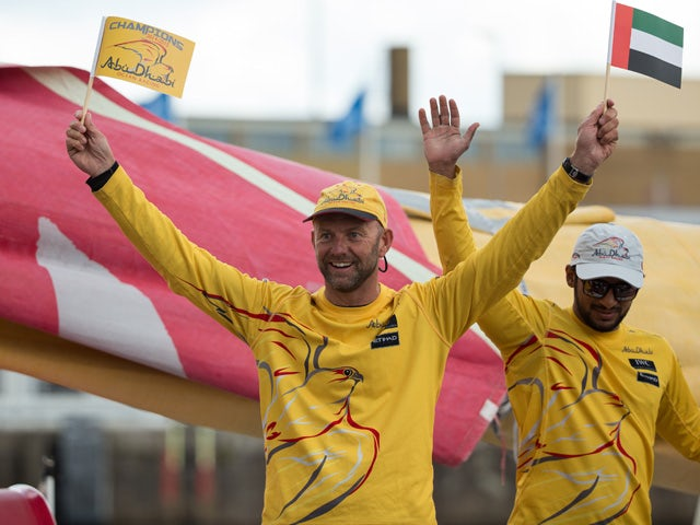 Ian Walker during the finish of Leg 9 from Lorient to Gothenburg via The Hague on June 22, 2015