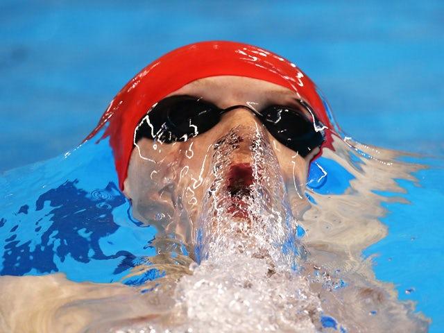 Luke Greenbank of Great Britain competes in the Men's 200m Backstroke heats during day thirteen of the Baku 2015 European Games at the Baku Aquatics Centre on June 25, 2015