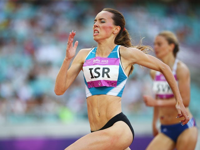 Olga Lenskay of Israel races to victory in the Women's 200 metres heat two during day ten of the Baku 2015 European Games at the Olympic Stadium on June 22, 2015