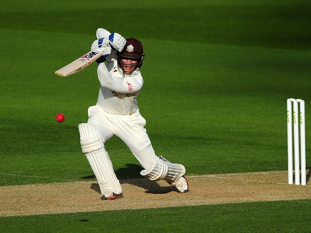 Rory Burns of Surrey bats during day three of the LV County Championship Division Two match between Surrey and Essex at The Kia Oval on April 28, 2015