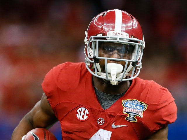 T.J. Yeldon #4 of the Alabama Crimson Tide in action against the Ohio State Buckeyes during the All State Sugar Bowl at the Mercedes-Benz Superdome on January 1, 2015