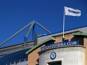 General view of a Chelsea Football Club sign during the Barclays Premier League match between Chelsea and Queens Park Rangers at Stamford Bridge on November 1, 2014