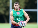 Jonny May in action during an England training session on August 4, 2015