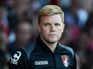 Bournemouth manager Eddie Howe looks on during a Pre Season Friendly between AFC Bournemouth and Cardiff City at Vitality Stadium on July 31, 2015