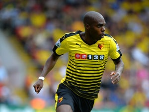 Allan Nyom of Watford during the Barclays Premier League match between Watford and West Bromwich Albion at Vicarage Road on August 15, 2015