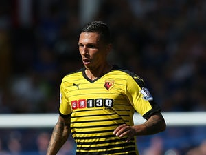 Jose Holebas of Watford in action during the Barclays Premier League match between Everton and Watford at Goodison Park on August 8, 2015
