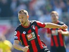 Marc Pugh of AFC Bournemouth during the Barclays Premier League match between Bournemouth and Aston Villa at the Vitality Stadium on August 8, 2015 in Bournemouth, England.