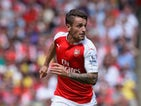 Mathieu Debuchy of Arsenal in action during the Barclays Premier League match between Arsenal and West Ham United at Emirates Stadium on August 9, 2015