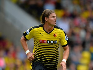 Sebastian Prodl of Watford during the Barclays Premier League match between Watford and West Bromwich Albion at Vicarage Road on August 15, 2015