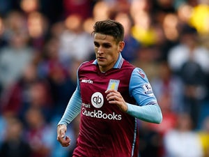 Ashley Westwood of Aston Villa in action during the Barclays Premier League match between Aston Villa and West Bromwich Albion at Villa Park on September 19, 2015