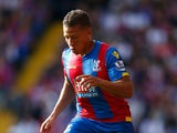 Dwight Gayle of Crystal Palace in action during the Barclays Premier League match between Crystal Palace and Manchester City at Selhurst Park on September 12, 2015