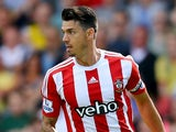 Jose Fonte of Southampton in action during the Barclays Premier League match between Watford and Southampton at Vicarage Road on August 23, 2015 in Watford, United Kingdom.