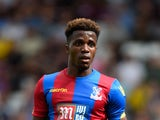 Wilfried Zaha of Crystal Palace in action during the Barclays Premier League match between Crystal Palace and Hull City at Selhurst Park on April 25, 2015