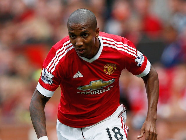 Ashley Young of Manchester United in action during the Barclays Premier League match between Manchester United and Sunderland at Old Trafford on September 26, 2015 in Manchester, United Kingdom.