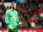 Goalkeeper, David de Gea of Manchester United looks on during the UEFA Champions League Group B match between PSV Eindhoven and Manchester United at PSV Stadion on September 15, 2015 in Eindhoven, Netherlands.