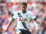 Mousa Dembele of Tottenham in action during the Barclays Premier League match between Manchester United and and Tottingham Hotspur at Old Trafford, Manchester.