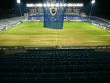 A picture taken on December 12, 2012 shows the empty stands before the French L1 football match SC Bastia vs Marseille (OM) at the Armand Cesari stadium in Bastia, Corsica.