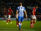 Tomer Hemed of Brighton reacts after heading just wide during the Sky Bet Championship match between Brighton & Hove Albion and Bristol City at Amex Stadium on October 20, 2015 in Brighton, England.