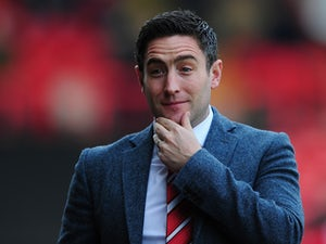 Lee Johnson, Manager of Barnsley looks on during the Sky Bet League One match between Bristol City and Barnsley at Ashton Gate on March 28, 2015