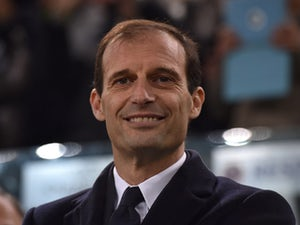 Juventus head coach Massimiliano Allegri smiles during the UEFA Champions League group stage match between Juventus and Manchester City FC at Juventus Arena on November 25, 2015