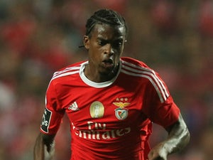 Benfica's defender Nelson Semedo during the match between SL Benfica and Estoril Praia at Estadio da Luz on August 16, 2015 in Lisbon, Portugal.