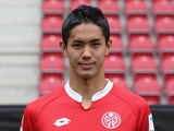 Mainz's Yoshinori Muto poses for his team photo on July 12, 2015