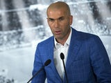 Zinedine Zidane speaks at a press conference after he is unveiled as Real Madrid manager on January 4, 2016