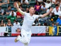 Ben Stokes can barely hide his excitement on day three of the third Test between South Africa and England on January 16, 2016