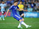 Andreas Christensen of Chelsea shoots at goal during a friendly match against Sydney FC on June 2, 2015