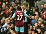 Slaven Bilic embraces Dimitri Payet during the FA Cup game between Blackburn Rovers and West Ham United on February 20, 2016