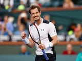 Andy Murray in action at Indian Wells on March 12, 2016