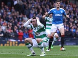 Celtic's Patrick Roberts reacts after his glaring miss in the Scottish Cup semi-final against Rangers on April 17, 2016