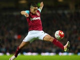 Manuel Lanzini is certainly not operating on automatic during the Premier League game between West Ham United and Watford on April 20, 2016