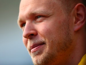 Kevin Magnussen of Renault in the paddock during previews ahead of the Formula One Grand Prix of Russia at Sochi Autodrom on April 28, 2016