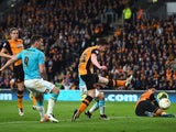 Andy Robertson of Hull City scores an own goal during the Championship play-off semi-final second leg against Derby County at KC Stadium on May 17, 2016