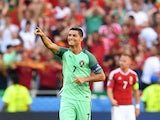 Cristiano Ronaldo celebrates scoring during the Euro 2016 Group F match between Hungary and Portugal on June 22, 2016